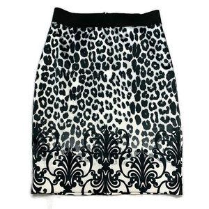 Express NWOT Snow Leopard Print Pencil Skirt